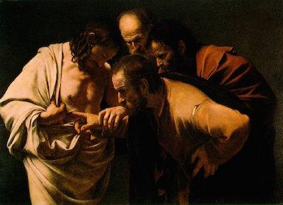Michelangelo-Thomas schaut Wundmale Jesu
