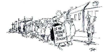Cartoon zur Fronleichnamprozession