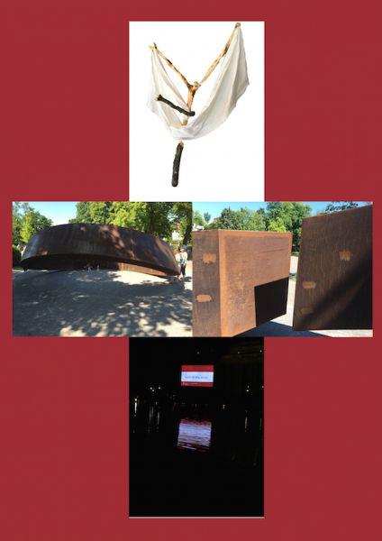 Kreuz aus 4 Bildern vom Kirchentag 2015