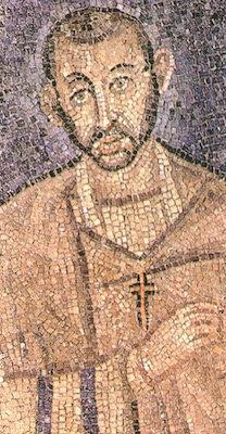 Mosaik Heilige Ambrosius von Mailand