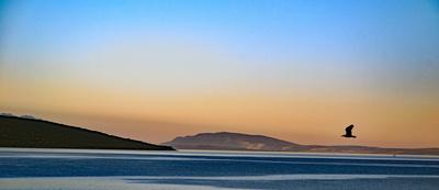 Morgenroete am Meer