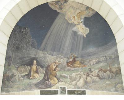 Deckengemälde Geburt Jesu mit Engel