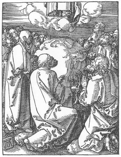 Holzschnitt Albrecht Dürer-Himmelfahrt