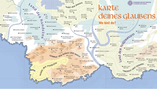 Karte des Glaubens