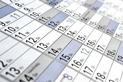 Nahaufnahme Wandkalender