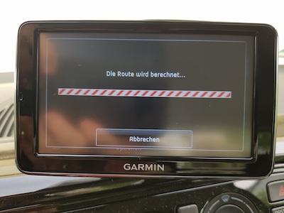 Bildschirm eines Navigationssystems