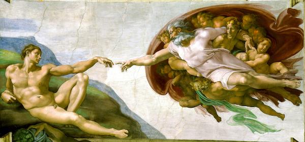 Erschaffung des Adam von Michelangelo