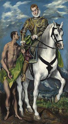 Gemälde von El Greco-Hlg. Martin und der Bettler