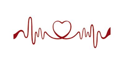 Rote Herzfrequenz mit Herz