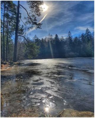 Sonnen-Reflektionen im Wasser